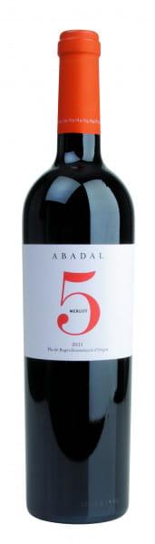 Abadal, 5 Merlot Pla de Bages DO, 2017